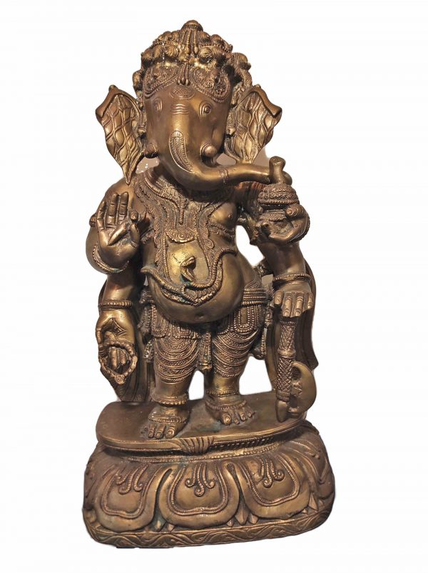 Statue de Ganesh en bronze - Inde