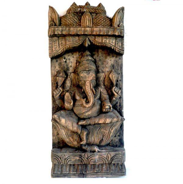 Statue de Ganesh en bois