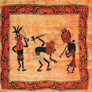 Tenture indienne ethnique - Danseurs