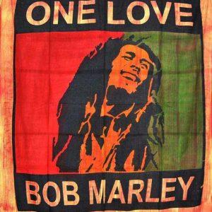 Tenture Murale Rasta - Bob Marley - One Love