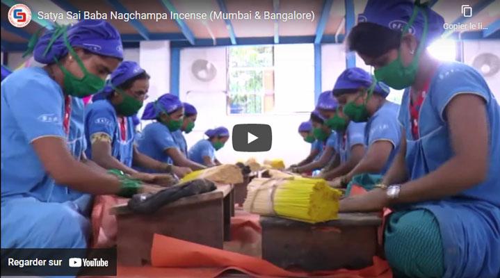 vidéo du processus de fabrication de l'encens Nag Champa