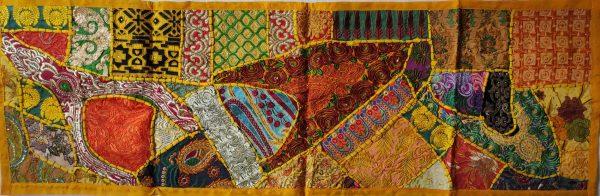 Patchwork Indien – Chemin de table jaune