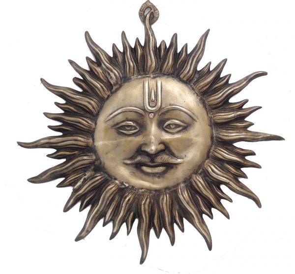 Soleil en Bronze Inde - Surya Dieu Soleil