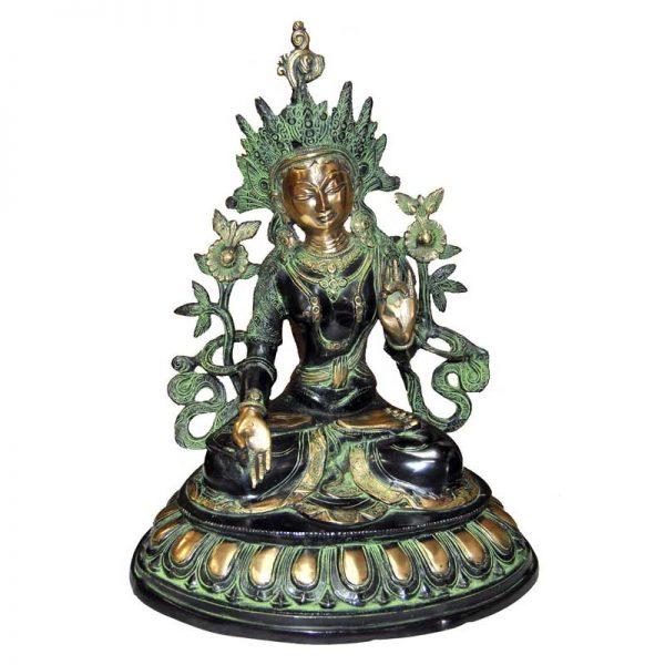 Statue Tara Blanche - Bronze
