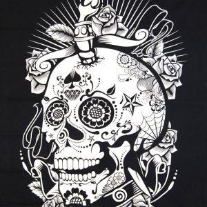 Tenture Tribal Tête de Mort - Skull