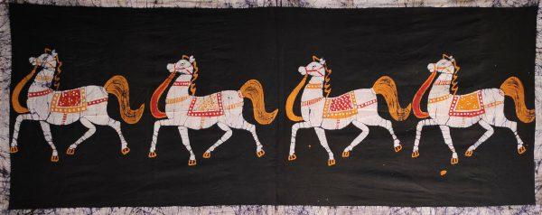 Batik Indien Chevaux