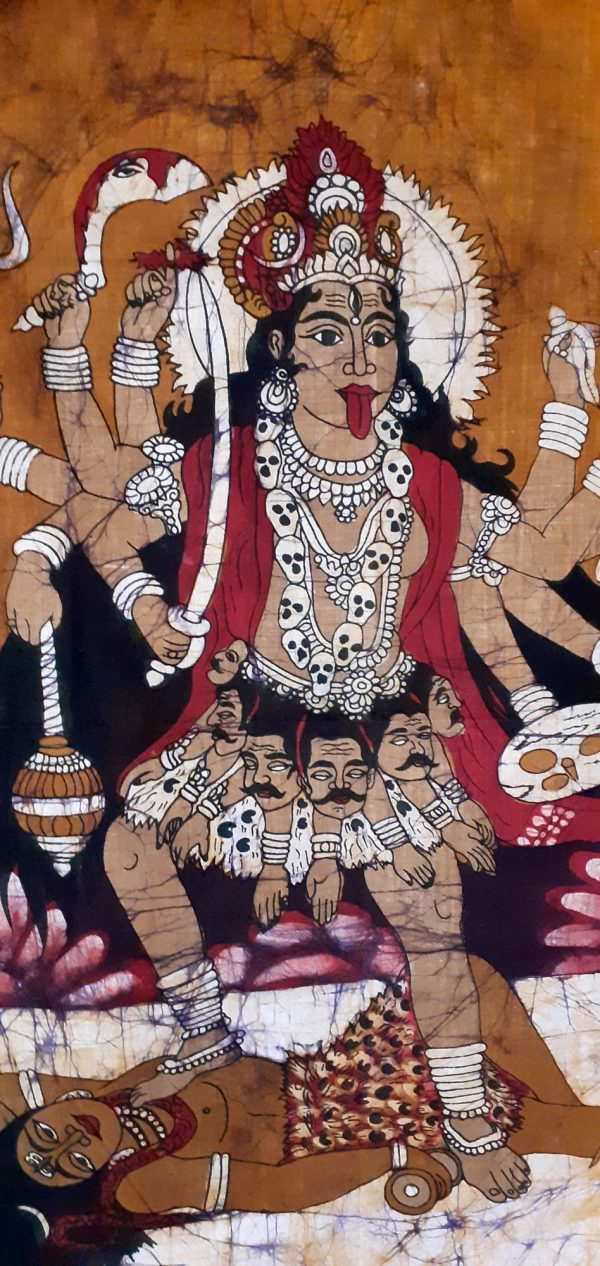 Kali marchant sur Shiva - Batik