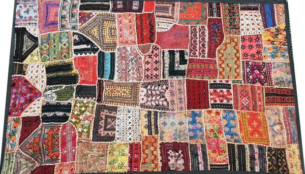 Patchwork de Saris Indiens