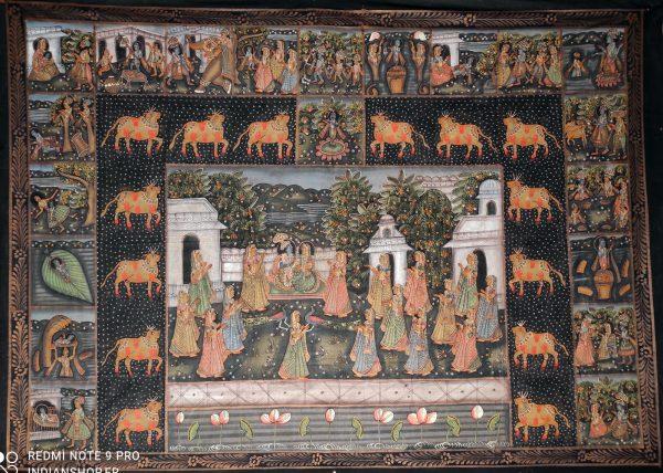 Peinture Indienne - Histoire de Radha et Krishna
