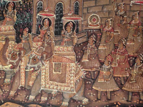 Peinture Rajput Mariage du Maharadja et la Maharani