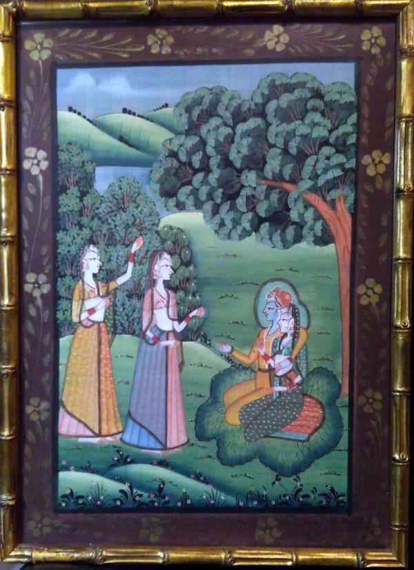 Peinture Rajasthan - Radha et Krishna