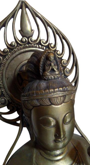 Statue Bouddha Avalokiteśvara en Bronze