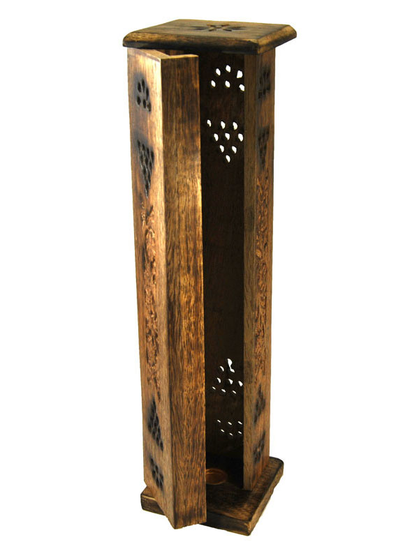 Porte encens tour en bois - Inde