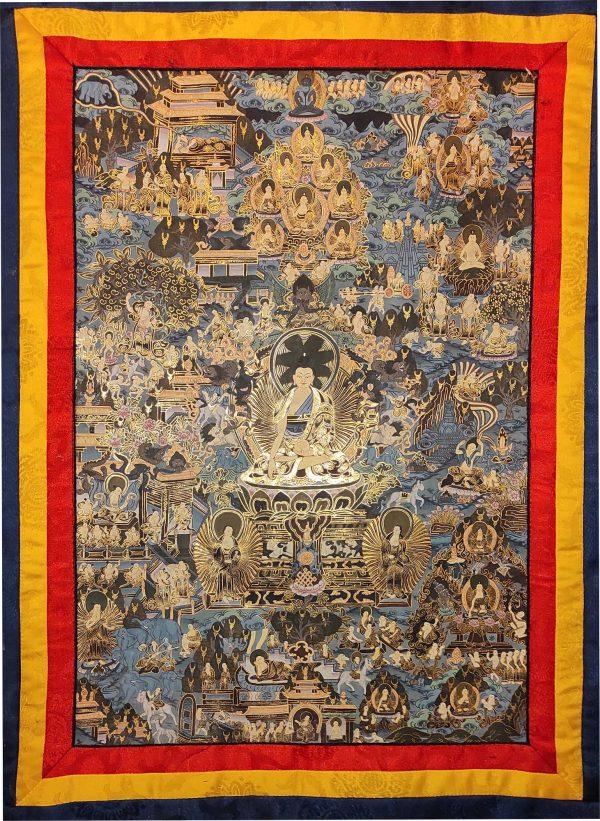 Thangka Tibétain - La Vie de Bouddha