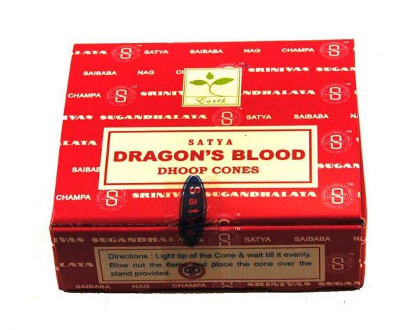 Encens cônes sang de Dragon Satya - Inde